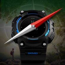 Skmei Hombres Militry Reloj Deportivo Brújula Brújula Relojes Hombres Led Digital Reloj de Los Hombres Escalada Reloj de Pulsera Relogio masculino montrme