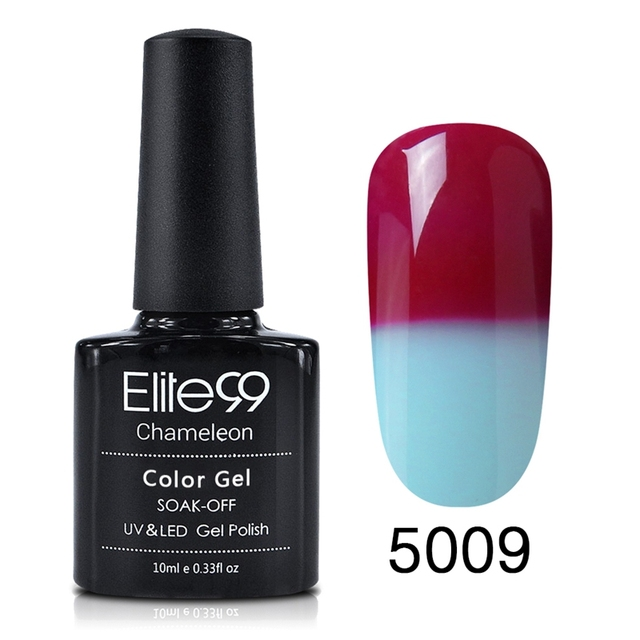 Elite99 Chameleonic Gel Nägel Polieren 10ml Temperatur Farbe Ändern Polnischen Gel Uv-härtung Stimmung Ändern Gel Polish Nagel
