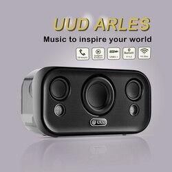 UUD Aries bezprzewodowy głośnik Bluetooth Hifi super bas głośnik stereo Bluetooth V4.2 + EDR z funkcją rozmowy telefonicznej