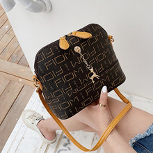 2019 New Shell Woman Bag European and American Letter Printing Trend Wild Retro Mini Casual Lady Shoulder
