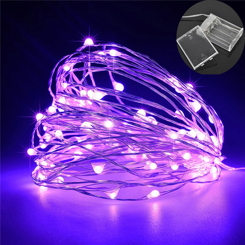 2m/3m/4m/5m Copper Wire LED Xmas Fairy Lights Garland For Christmas Party Wedding Indoor Outdoor New Year's Decorations Light