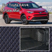 PU Leather Rear Trunk Cargo Liner Protector Mat Seat Back Cover For Toyota RAV4|  -