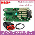 2016 Best Selling Single Green Board with Full Set Cover Adapters Diagnostic OBD TCS CDP Pro For Cars/Trucks One Year Warranty
