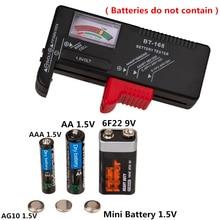 BT-168 Цифровой тест батареи AA/AAA/C/D/9 V/1,5 V батареи Универсальный кнопочный элемент батареи цветной кодированный метр показывает Вольт Тест er