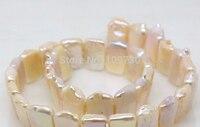 Bijoux 00297 11mm * 16mm naturel rose perle lâche perles 15