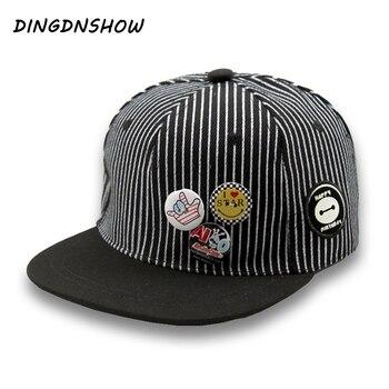цена на 2020 New Baseball Cap Snapback Cap Children Stripe Casquette Gravity Falls Acrylic Gorras Planas Hip Hop Hats for Boys and Girls