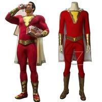 Shazam Cosplay Captain Marvel Costume Billy Batson Jumpsuit Costumes Marvel Suit Superhero Halloween Adults Men Customized Made