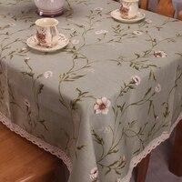แสงสีเขียวผ้าฝ้ายผ้าลินินผ้าปูโต๊ะสำหรับโต๊ะรับประทานอาหาร/ประเทศอเมริกันสไตล์ธรรมชาติ...