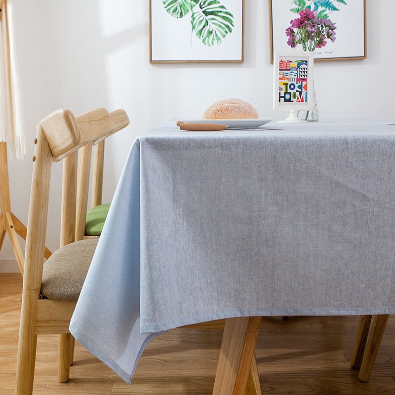 Simple Waterproof Plain Tablecloth Solid Color Decent Grey Table Cloth Wedding Home Decoration Banquet Rectangular Cover Cloth in Tablecloths from Home Garden