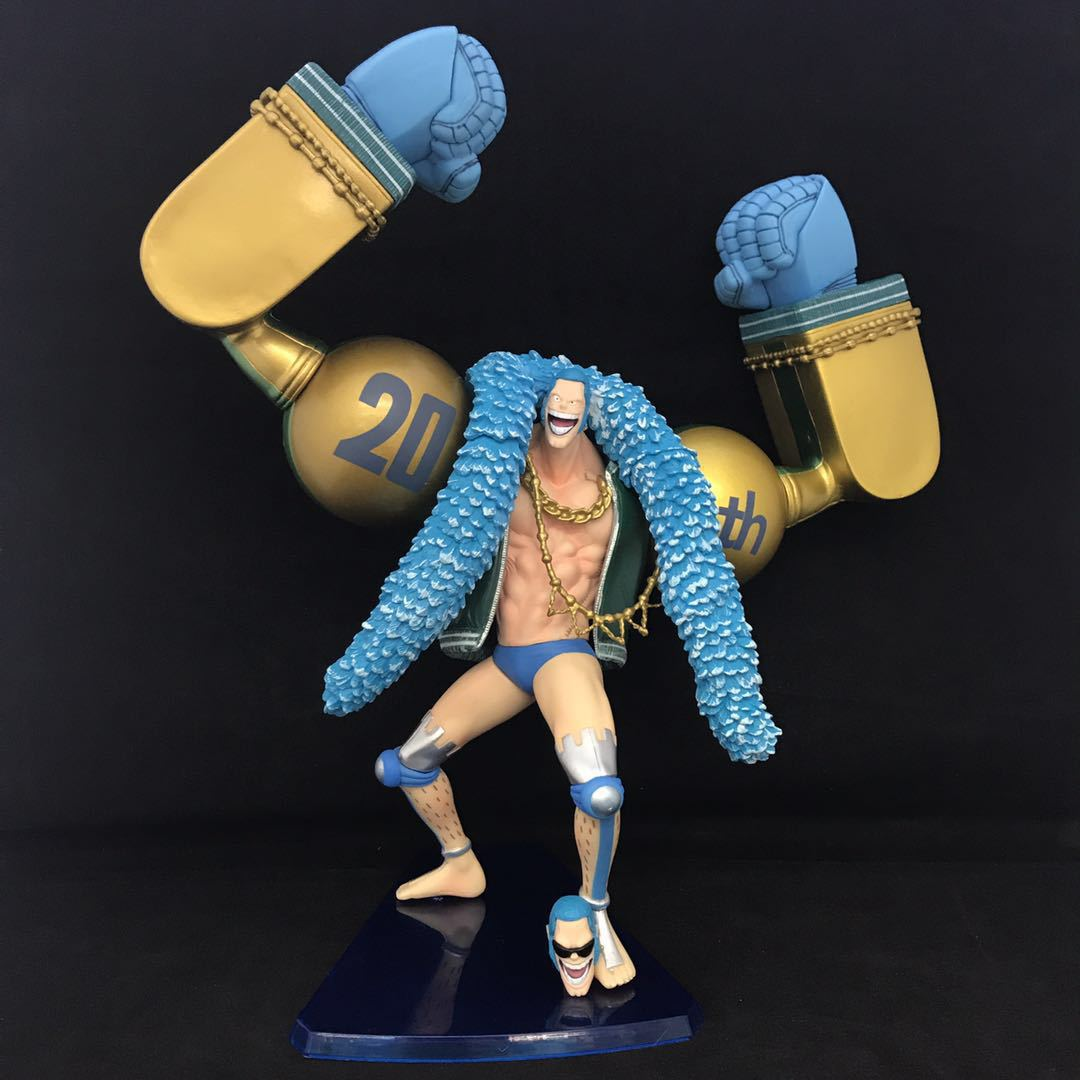 WVW 26CM Hot Sale Anime One Piece 20th anniversary New World Franky Model PVC Toy Action Figure Decoration For Collection Gift new hot christmas gift 21inch 52cm bearbrick be rbrick fashion toy pvc action figure collectible model toy decoration