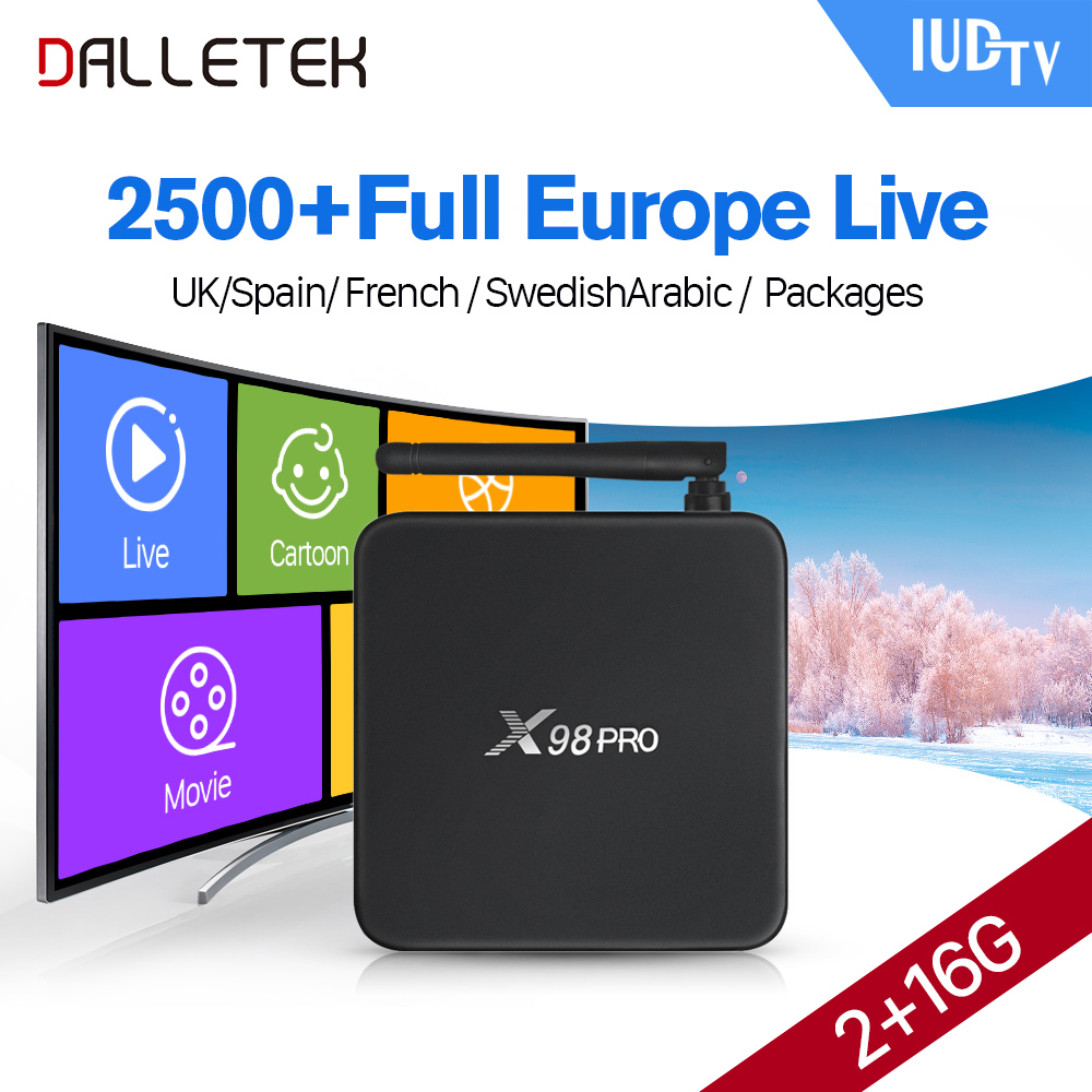 Dalletektv X98PRO S912 Android TV Box 2g ram Media Player 1 Jahr...