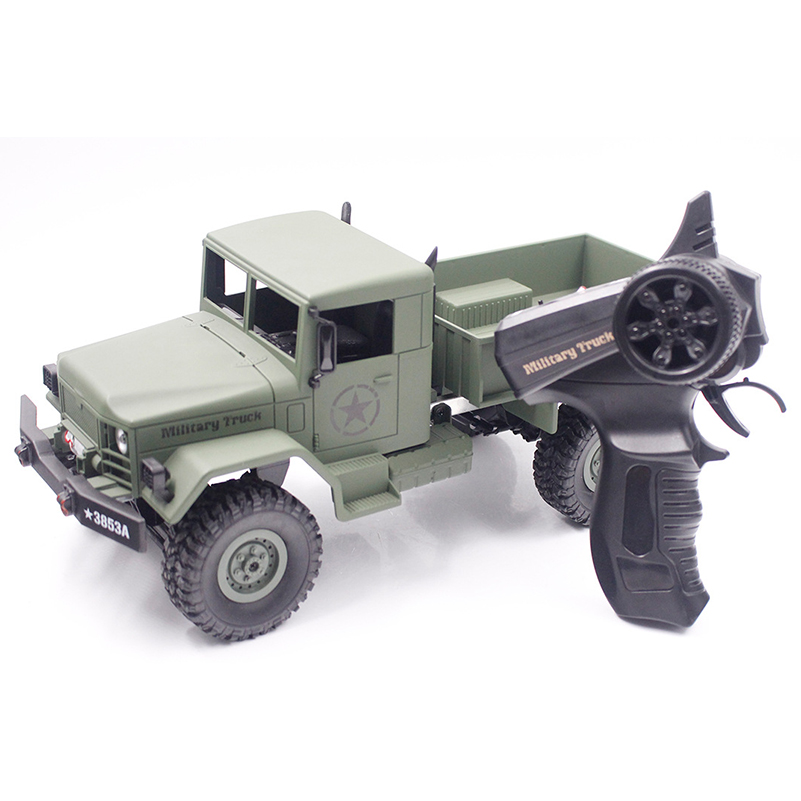 1/16 2.4G RC Military Truck Toy Remote Control Cars Remote Control Truck Rock Crawler Off Road Dirt Toys Big Wheel Car Kid Gift remote control 1 32 detachable rc trailer truck toy with light and sounds car