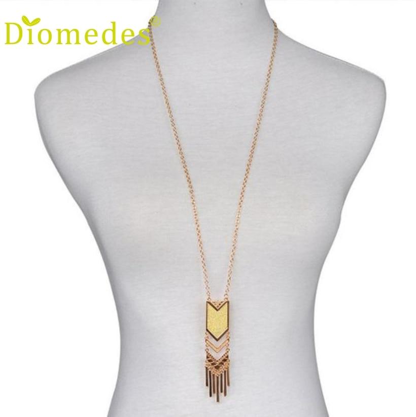 Pendant Necklace Tassel Bohemian Triangle Sexy-Chain 1PC Matte New
