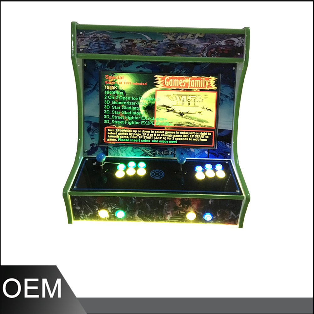 22 inch mini game machine with 2100 in 1 40G PCB/mini desktop arcade cabinet/table top arcade cabinet mini table top air hockey game pushers pucks family xmas gift arcade toy playset