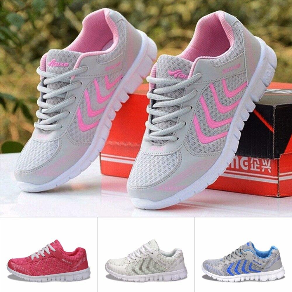 Дышащая Спортивная Кроссовки свет Zapatos Mujer открытый Спортивная обувь 35-44 Обувь 2018 бег Новый Дизайн Для женщин Обувь