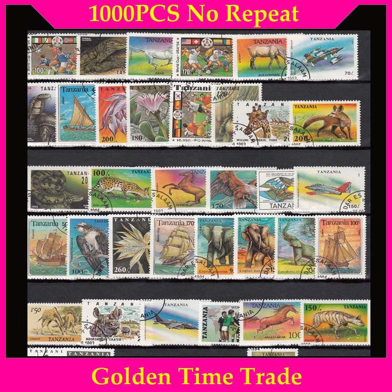 2000 PCS All Different No Repeat With Post Mark Off Paper Postage Stamps In Good Condition