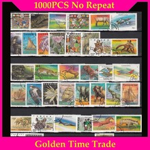 2000 PCS All Different No Repeat With Post Mark Off Paper Postage Stamps In Good Condition For  Collection