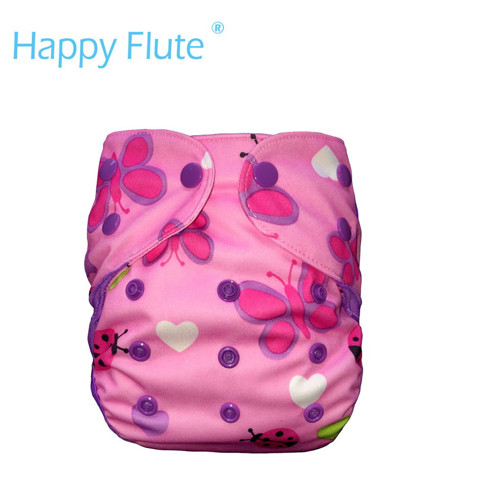 HappyFlute Small Cloth Diaper Cover With Double Gussets,fits 3-9 Months Baby,without Insert
