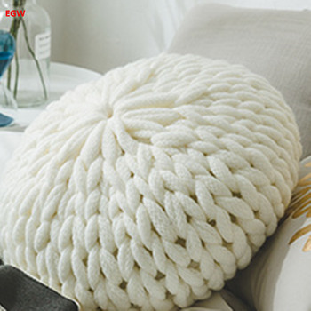 Home decor white round pumpkin cushion canday cushion with filling Europe sofa bed car cafe home room decoration home textile
