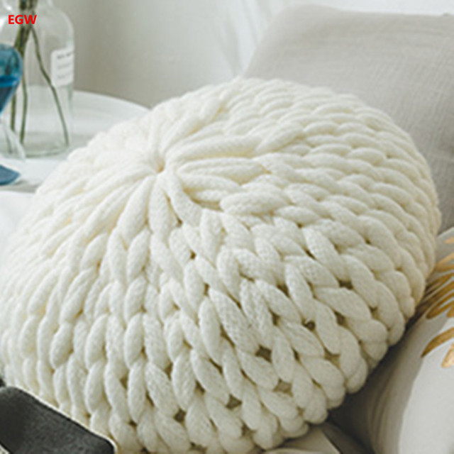 Home Decor White Round Pumpkin Cushion Canday With Filling Europe Sofa Bed Car Cafe
