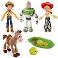 Toy Story Woody 28cm Buzz Lightyear 25cm Bullseye Horse 22cm Peas in a Pod 20cm Cute Mini Plush Stuffed Kids Children Toys Gifts