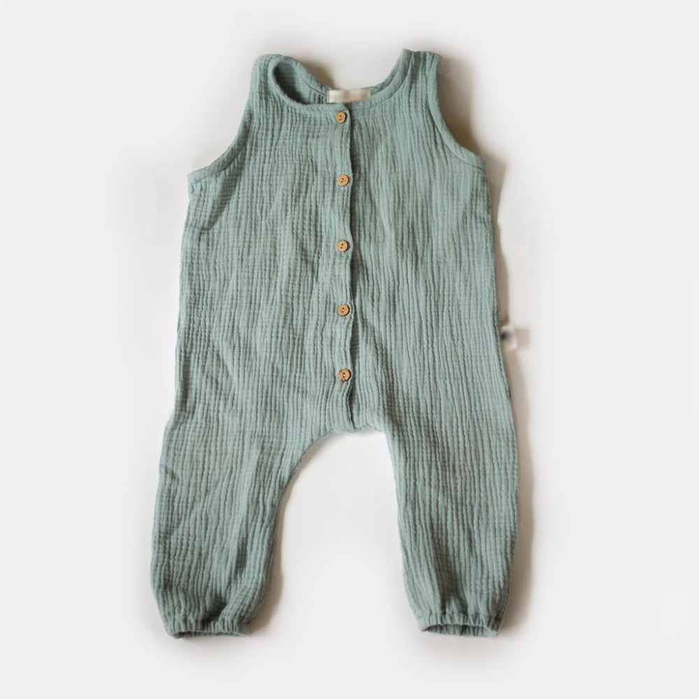 Retail Owligbaby 2018 wholesale new autumn simple sleeveless Siamese baby boy romper 163TP0628