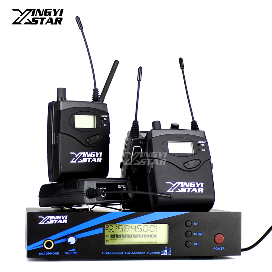 Four Bodypack Receiver Wireless In Ear Monitor System Professional Stage Monitoring For EK 2000 IEM One Transmitter in Earphone 6 pack receivers wireless in ear monitor system professional dual channels transmitter sr 2050 iem