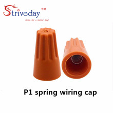 2016 NEW 100pcs/lot Electrical Wire Twist Nut Connector Terminals Cap Spring Insert Assortment Color Orange