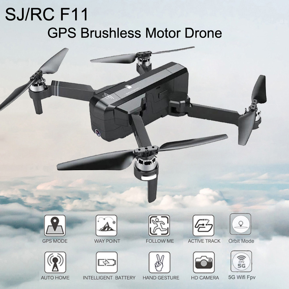 SJRC F11 GPS Drone With Wifi FPV 1080P Camera Brushless Quadcopter 25mins Flight Time Gesture Control Foldable Dron Vs CG033 1