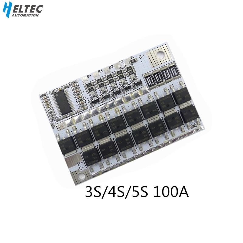 3S/4S/5S BMS 12V 16.8V 21V 100A Li-ion LMO Ternary Lithium Battery Protection Circuit Board Li-POLYMER Balance Charging Module