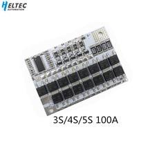 3 S/4/4S/5 S BMS 12 V 16.8 V 21 V 100A Li Ion LMO Al Litio Ternario circuito di Protezione della batteria Li POLYMER Balance Modulo di Ricarica