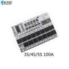 3S/4S/5S BMS 12V 16,8 V 21V 100A Li ion LMO Ternary protección de la batería de litio placa de circuito li polymer Balance Charging Module