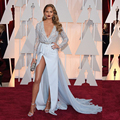 Oscar Chrissy Teigen Celebrity Dress Bling Beads Crystal Red Carpet Dress Long Sleeves Evening Dresses Vestido De Festa