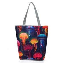 Dream color Casual Canvas Tote Handbag Women Shoulder Bag Cartoon Printed Lad Female Bag Shopping Bag Sac a main baobao