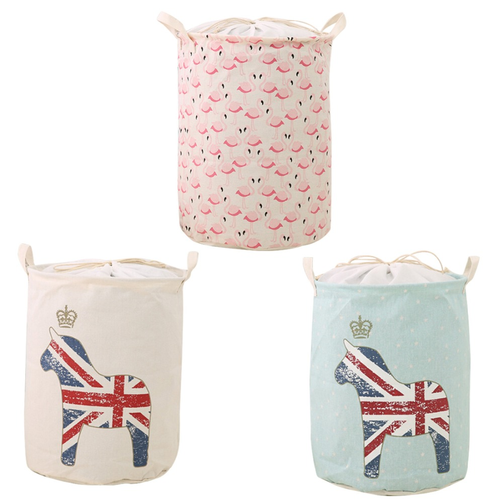 Washing Laundry Basket Storage 35*45cm Large Buckets For Toys Washing Basket Dirty Clothes Sundries Storage Bag Box Bins
