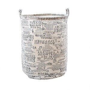 Image 4 - Cesta de lavanderia à prova dwaterproof água mais tamanho cestas de armazenamento com alça dobrável conveniente família caixa de armazenamento crianças brinquedos roupas