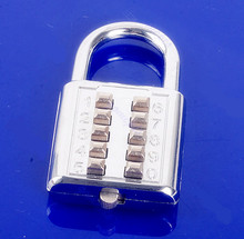 5 Dígitos Push-Button Combinación Número Equipaje Código Viajes Lock Candado de Plata
