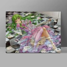 Goddess CC In Wet Wall Pictures CODE GEASS Lelouch of the Rebellion Canvas Painting Living Room HD Print Art Painting brdwn code geass lelouch of the rebellion episodes lelouch vi britannia cosplay costume school uniforms suit