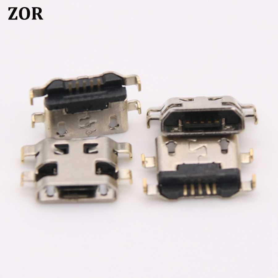 10 Pcs untuk Alcatel OT6012 OT 6012 PL 6012D 6012X Ot4033 7040n OT7040 Tech Mini Micro USB Charging Konektor Soket port