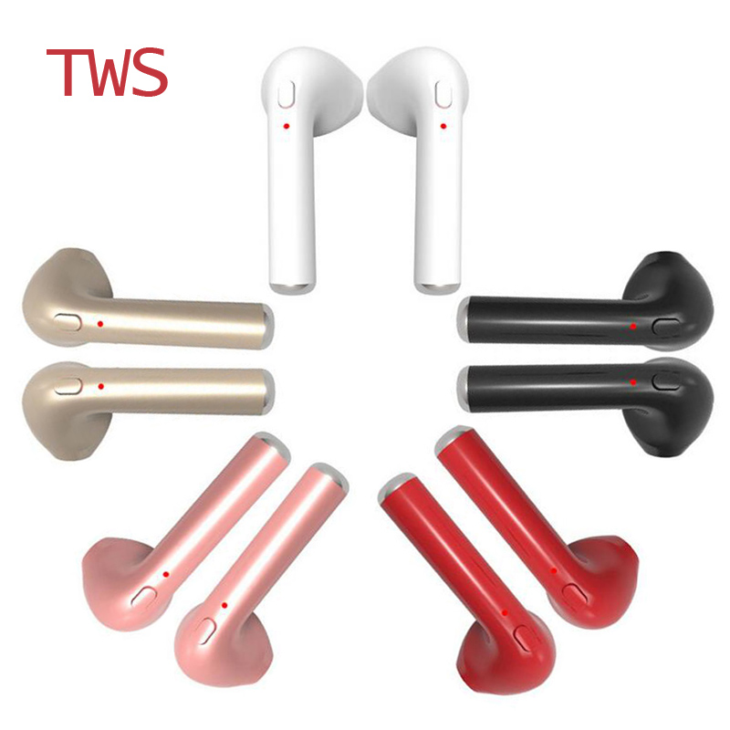 HBQ i7 TWS Twins Wireless Earbuds Mini Bluetooth V4.2 Stereo Headset earphone For Iphone 7 plus 7 6s 6 plus SE Galaxy S8 Plus LG remax t9 mini wireless bluetooth 4 1 earphone handsfree headset for iphone 7 samsung mobile phone driving car answer calls