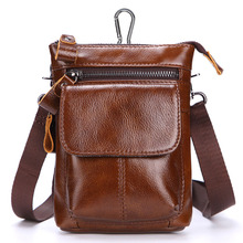 Genuine Leather Mens Waist Packs with Belt Hock Fanny Pack Crossbody Sling Phone Bag