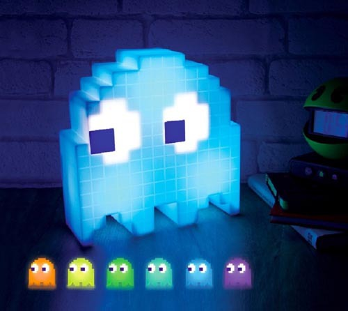 Color Changing Cartoon PAC-MAN  Lamp Led Mini USB Night Light 8-bit Mood Light Pixel Style Child Baby Soft Lamp Bedroom Lighting