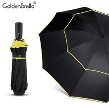 New Big 120 cm Guarda-chuva Totalmente automática Guarda-Chuva Homens Dupla  Camada Mulher 3 Dobrável Presente Do Negócio Guarda-. ebaca0fa3a