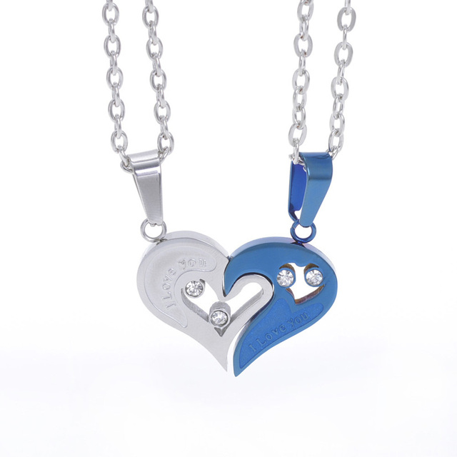 I Love You Couple Necklace