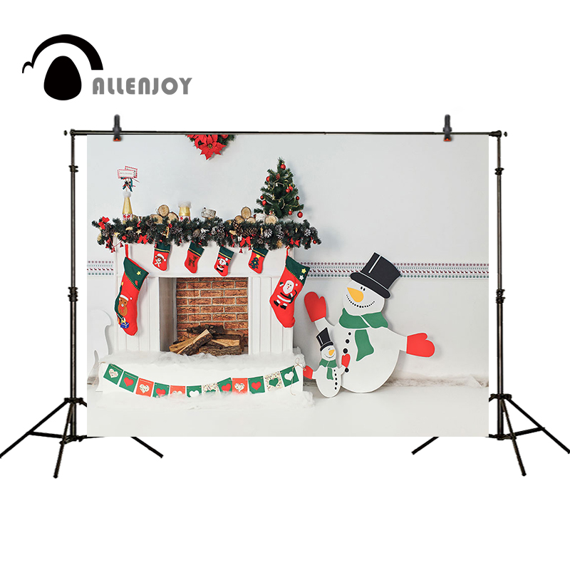 Allenjoy Christmas backdrop snowman decoration fireplace white background camera photographic photocall photographic background 2017 hot selling christmas decoration inflatable snowman