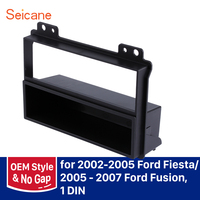 Seicane refitting 182*53mm Frame Panel Kit Car Radio Fascia for 2002 2003 2004 2005 Ford Fiesta 2005 2006 2007 Ford Fusion