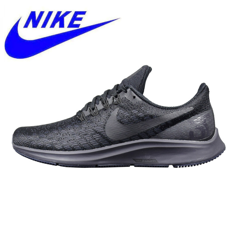 purchase cheap 459e3 08b38 Original NIKE AIR ZOOM PEGASUS 35 Men s Running Shoes, Black, Shock  Absorbing Breathable Wear-resistant Lightweight 942851 002