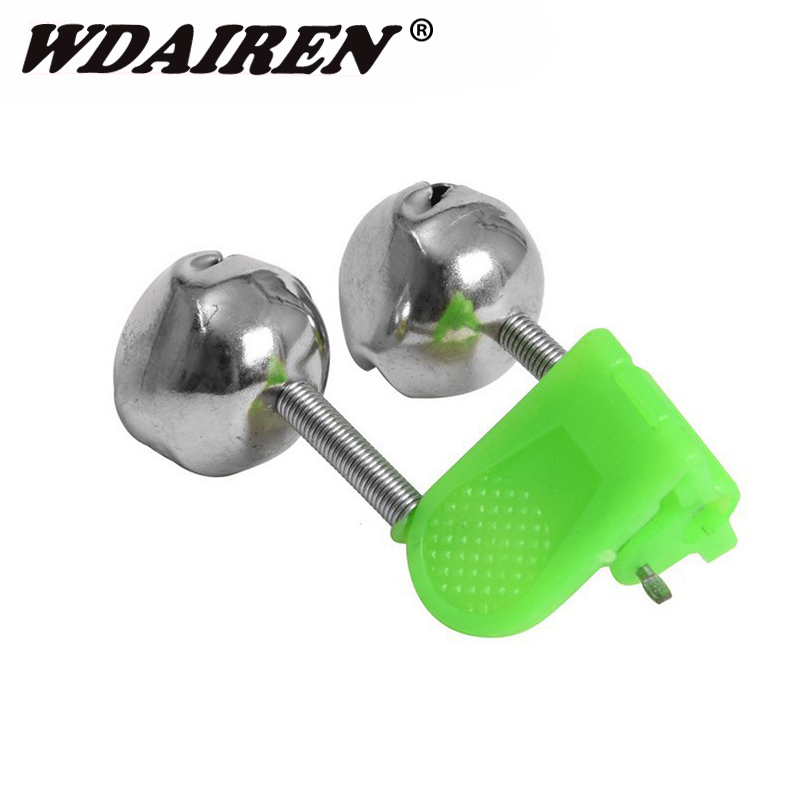 5pcs/lot Fishing Float Rod Bells Bells Alarm Ring Fishing Bite Rod Clip Green Tip Clip ABS Fishing Stainless Steel Accessory