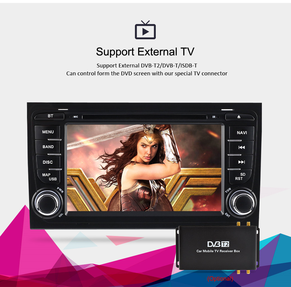 Image 3 - 7'' Android 9.0 car DVD Radio Stereo For Audi A4 S4 2002 2003 2004 2005 2006 2007 2008 GPS Navigation WIFI Video Player Headunit-in Car Multimedia Player from Automobiles & Motorcycles