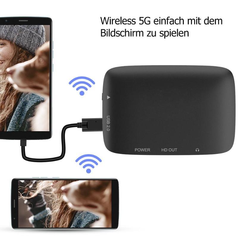5G WiFi sans fil HDMI Dongle coller téléphone au projecteur HDTV même adaptateur d'écran prise en charge Miracast Airplay pour iOS Android